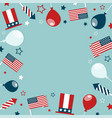 4th of july concept frame with festive attributes vector image vector image