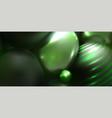 abstract background with 3d spheres multi-colored vector image vector image