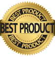 Best Product gold label vector image