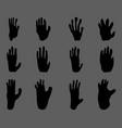 black footprints monkey vector image vector image