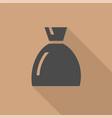 black money bag vector image vector image