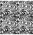 brush painted zebra seamless pattern black and vector image