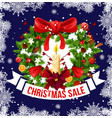 christmas and new year holiday sale offer banner vector image vector image