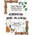 cinco de mayo mexican festive poster template vector image vector image