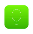 circle ice cream icon green vector image vector image