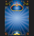 circus night poster vector image vector image