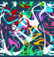 colored bright seamless pattern in graffiti style vector image vector image