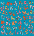 colorful english alphabet seamless pattern vector image vector image