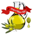 colorful of olive oil 1 vector image vector image