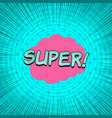 comic turquoise explosive template vector image vector image