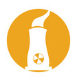 factory chimney isolated icon vector image