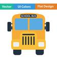 Flat design icon of School bus vector image