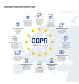 gdpr infographics european personal data and vector image