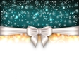 Glowing Luxury Background with Bow Ribbon vector image vector image