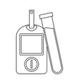 glucometer blood test black and white vector image vector image
