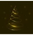 Golden tree vector image