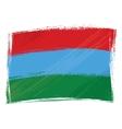Grunge Karelia flag vector image vector image