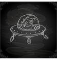 Hand Drawn Santa Claus in a Spaceship vector image vector image