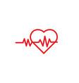 heart pulse logo icon template vector image vector image