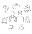 Hotel service icons and symbols vector image