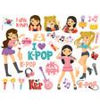 k-pop and korean idols vector image