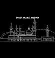 medina silhouette skyline saudi arabia - medina vector image vector image