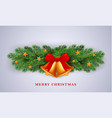 merry christmas gold bells concept background vector image vector image