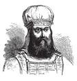 mitre or sacred turban vintage engraving vector image