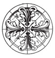 modern circular panel is a early gothic design vector image vector image