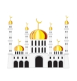 Mosque on white background vector image vector image