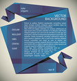 Origami style abstract background vector image