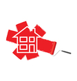 paint roller red vector image vector image