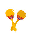pair of maracas isolated object vector image
