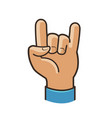 party symbol or icon rock cool gesture hand vector image