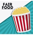 pop corn fair food snack carnival icon vector image vector image