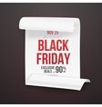 Realistic Folded Paper Scroll Black Friday Sale vector image vector image