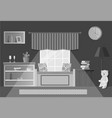room in flat style vector image vector image