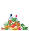 salad ingredients banner template design vector image vector image