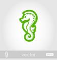 sea horse outline icon summer vacation vector image vector image