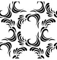 seamless abstract black floral pattern vector image vector image