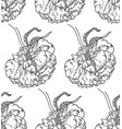 seamless pattern with peony flowers on white vector image vector image