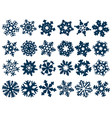 set abstract snowflakes vector image vector image