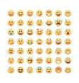 set emoticons emoji isolated on white vector image
