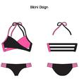 Sexy Bikini Flat Pattern vector image vector image