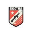 shooters special snipers squad military chevron vector image vector image