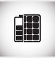 solar power battery on white background vector image vector image