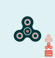 spinner icon isolated vector image
