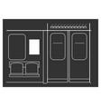 subway train interior vector image vector image