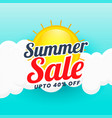 summer sale banner design background vector image vector image