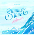summer with invitation welcome text vector image